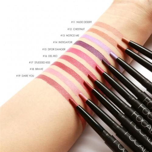 Red Lip Liner Pencils Waterproof Lip Pencil Long Lasting Pigments Nude Color Focallure Brand Lipliner.jpg 640x640