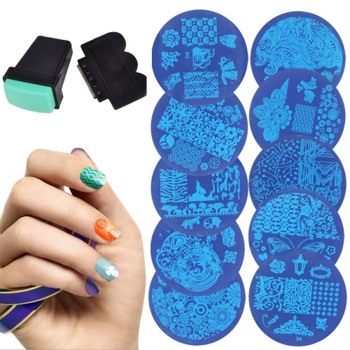 10ps Nail Plates Set Nails Art Image Stampr