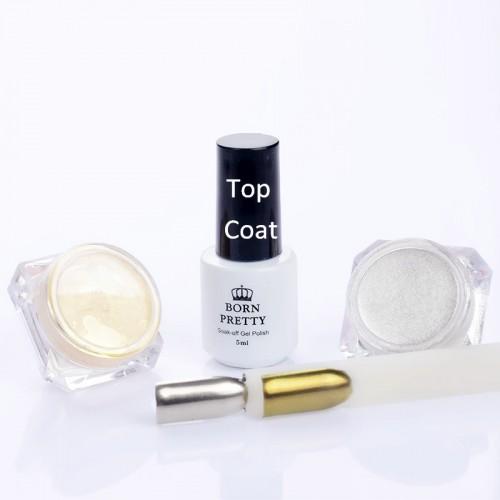 3Pcs set Shinning Sliver Gold Nail Glitter Powder