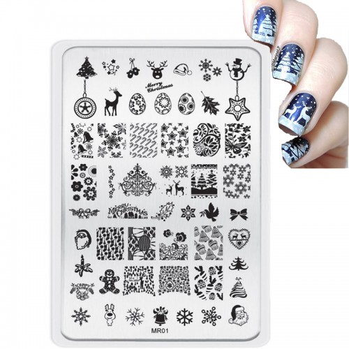 Nail Art Manicure Template Stamp Nail