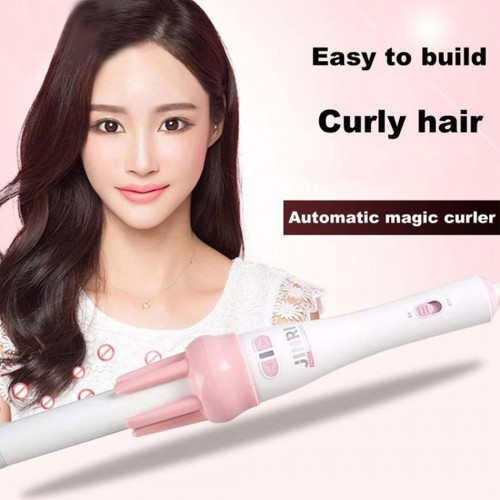 Automatic Hair Curler Rotating Rolling Iron Fast Styling Wand Ceramic Heating Tube With Plant Protein Coating