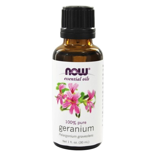 Now Foods, Essential Oils, 100% Pure Geranium, 1 fl oz (30 ml)
