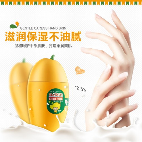 BIOAQUA Kawaii Mango Milk Moisturizing Hand Cream Moisturizing Nourish Anti chapping Hand Care Lotions Hand Care