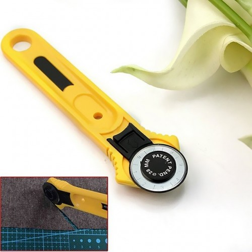 28mm Circular Cut Yellow Rotary Cutter Blade Patchwork Fabric Leather Craft Sewing Tools