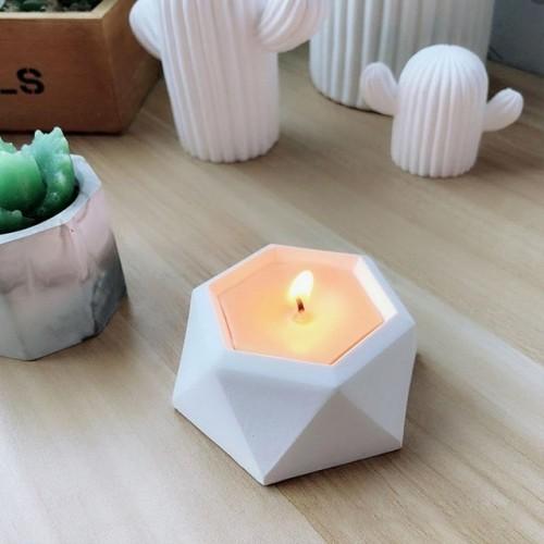 Diamond Shaped Surface Succulent Plant Flower Pot Silicone Mold Gypsum Cement Fleshy Flower Bonsai DIY Ashtray