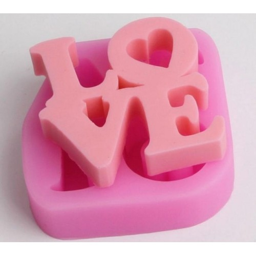 love word Silicone Soap Mold Multifunction Candle Molds Cake Candy Baking Mould DIY Handmade Craft.