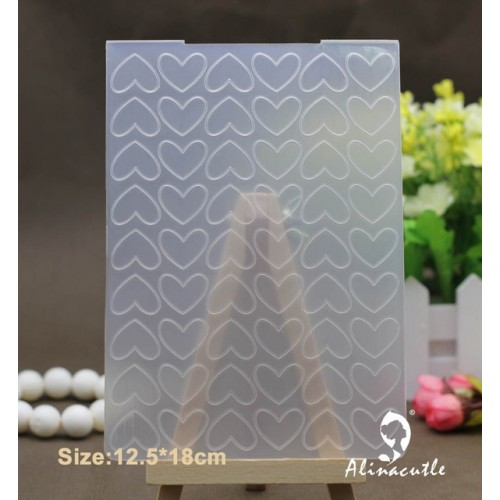 12 5 18cm PLASTIC EMBOSSING FOLDER Alinacraft heart DIY scrapbook album card decoration paper craft background