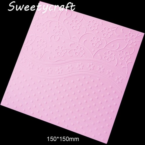 15 15cm Flower Dot Textured Embossing Folder Plastic Card Making Stamps Scrapbooking Paper Craft Supplies Folders