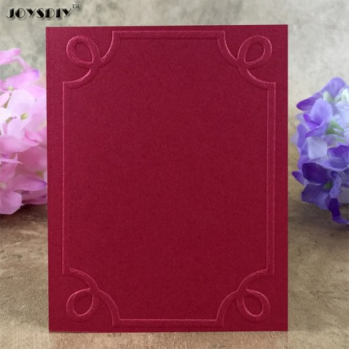 Flower Frame Glass Item03 DIY Scrapbook Bump Plastic Embossing Folder For Album Card Tool Plastic Template