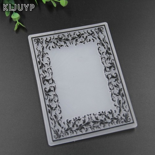 KLJUYP Frames Plastic Embossing Folders for DIY Scrapbooking Paper Craft Card Making Decoration Supplies
