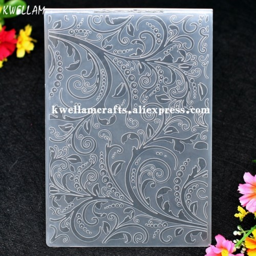 Leaves Plastic Embossing Folder For Scrapbook DIY Album Card Tool Plastic Template 12 5x17 8cm KW7041406