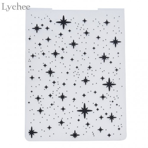Lychee Star Plastic Embossing Folder For Scrapbooking Photo Album Card Paper Craft Template Mold