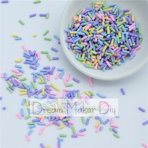 100g lot Polymer Clay Sprinkles Lovely confetti for Crafts Making DIY Confetti