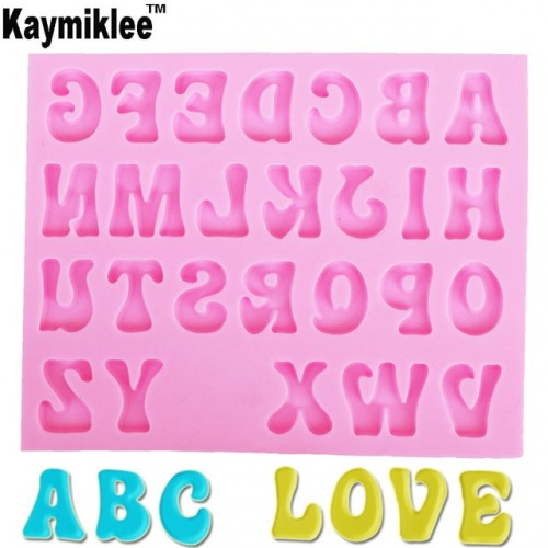 M948 Creative Letters Alphabet Silicone Mold Uppercase Fondant Cake Decorating Tools Gumpaste Chocolate Fimo Clay Candy