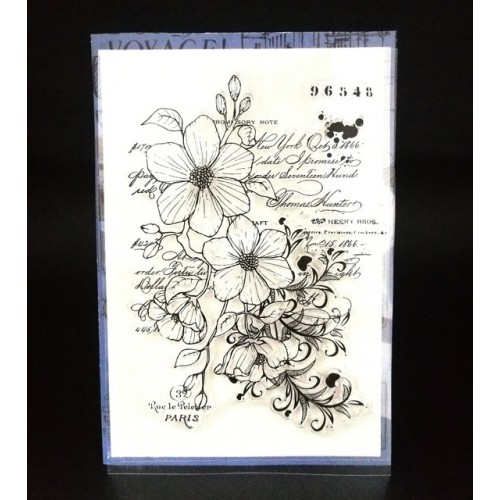 FLOWER Transparent Clear Silicone Stamp Seal for DIY scrapbooking photo album Decorative clear stamp A720