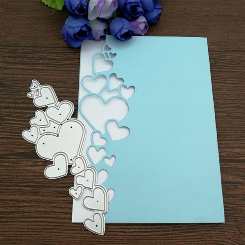 Heart Lace Edge Frame Metal Cutting Dies Stencils For DIY Scrapbooking Decorative Embossing Handcraft Die Cutting