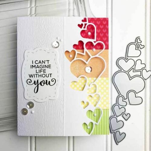 Heart Lace Edge Frame Metal Cutting Dies Stencils For DIY Scrapbooking Decorative Embossing Handcraft Die Cuttings