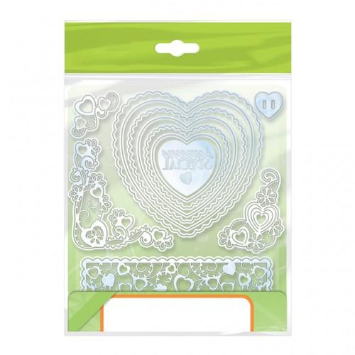 Julyarts Heart Flower Frame Metal Cutting Dies New for Scrapbooking DIY Paper Cards Photo Album