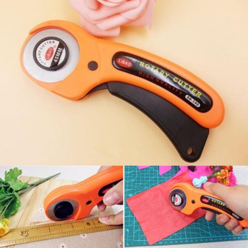 Sharp Round Stylish High Quality 45mm Rotary Cutter Roller Premium Quilters Sewing Quilting Fabric