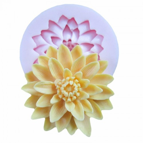 3D Beautiful Lotus Chrysanthemum Flower Silicone Soap Moulds For Fondant Cake Decorating Tools DIY Baking Chocolate