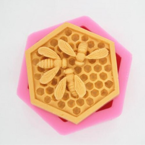 3D Bee Honeycomb Silicone Soap Molds Candle Resin Crafts Mould Mousse Fondant Cake Bakeware Decorating Kitchen