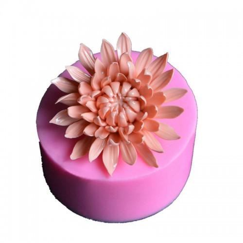 3D Chrysanthemum flower Big Size silicone soap mold Making for DIY Fondant Cake Craft Handmade Soap