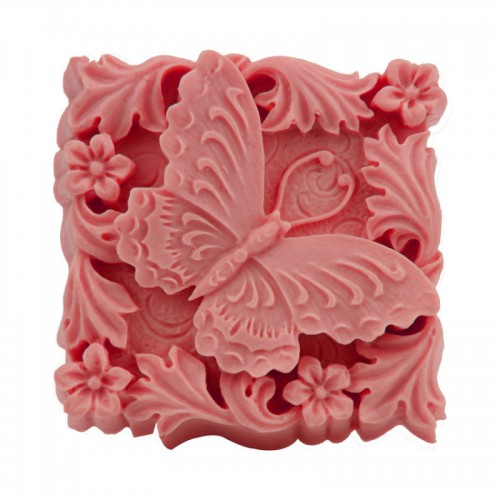 3D Large Silicone Forms Mould For Soap Making Butterfly Square Candle Mold Handmade Flower Fondant Jelly