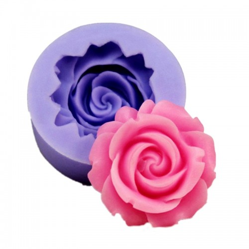 3D Rose Flower Shape Silicone Soap Mold Form Chocolate Cake Mold Handmade Diy Cake Fondant Decoration soap