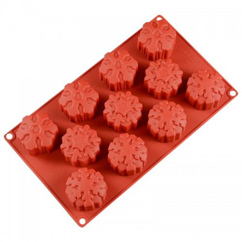 3D Silicone Soap Mold Snowflake Mousse Cake Mold DIY Handmade Baking Tool Christmas New Year Holiday