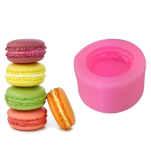 3D Stereo Macaron Style Silicone Mold DIY Handmade Soap Candle Mold Fondant Cake Chocolate Decorating Silicone