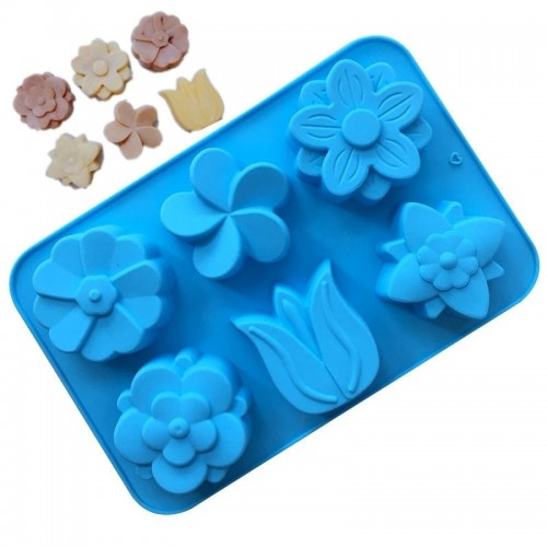 3D Tulip Flower silicone Soap mold DIY cake decorating tools chocolate fondant confeitaria mold baking accessories