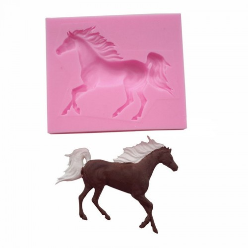 Cake Mould Baking Accessories Kitchen Gadgets 3D Horse Random Color Soap Mould Non toxic Food Grade