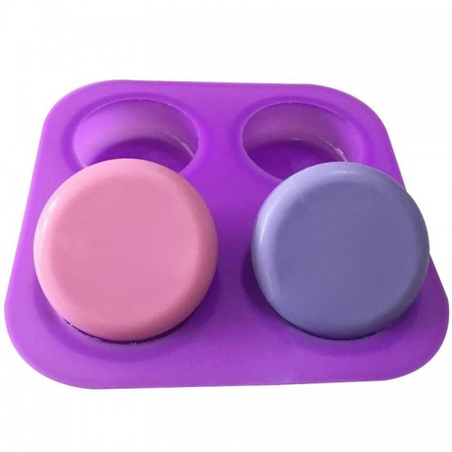 Four Round Circles Silicone Cake Molds Cake Decorating Tools Chocolate Gum Paste Fondant Muffin Baking Soap