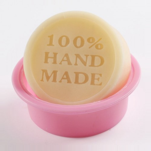 High Quality 100 Hand Made Round DIY Silicone Mold Soap Mold Form Mould Fondant Cake Decorating