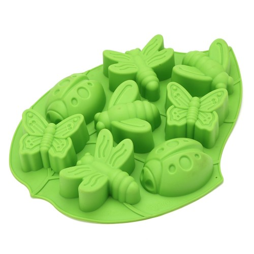 Silicone Mold DIY Cake Decoration Soap Mold High Temperature Insect Butterfly Bee Animal Pudding Jelly Mold