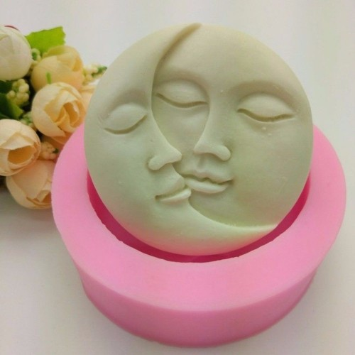 Sun Moon Faces Silicone Soap Molds Craft Molds DIY Handmade Soap Mould