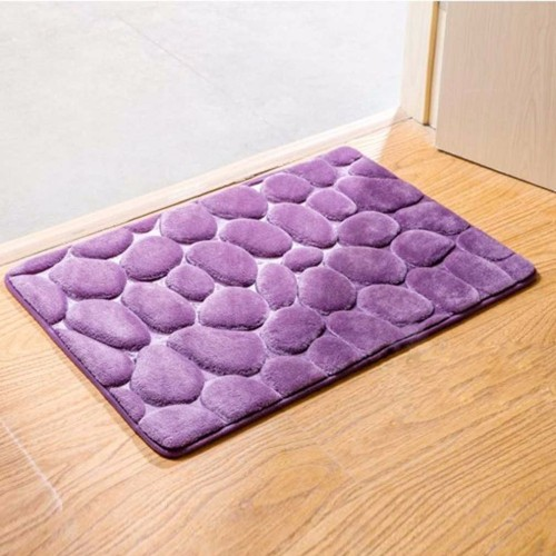 3d Cobblestone Rugs Carpets For Rectangle Bathmat