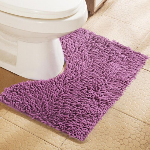 40x50cm New Arrival Multicolor Chenille U Shape Water Absorption Bath Mat Toilet Cheap Anti slip Toilet