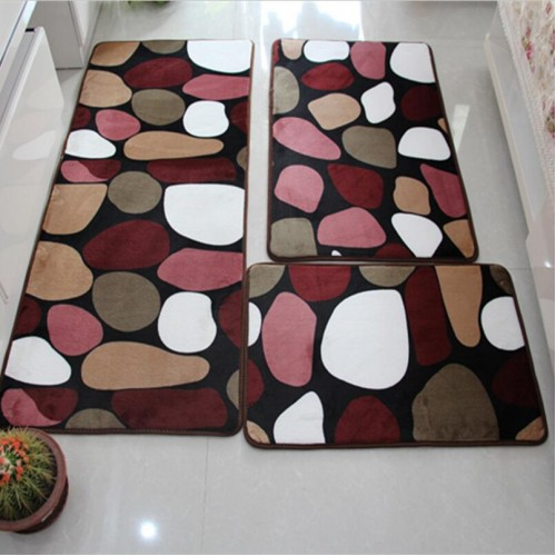Bathroom Mat Set Anti slip Bath Rug Stone Carpets Cartoon Bath Mats and Toilet