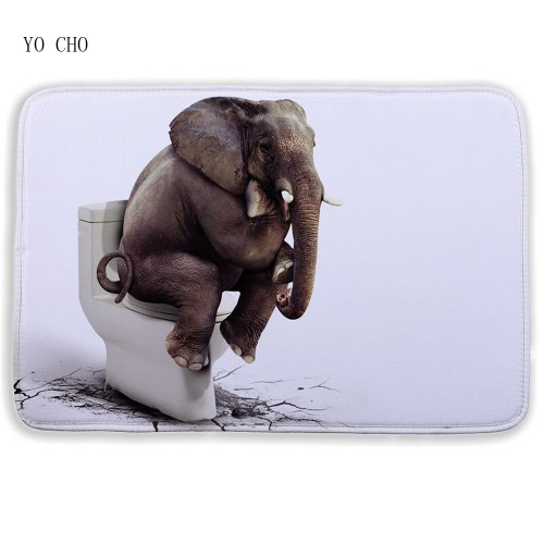 Cartoon 3D bath mat Animal Elephant lion bathroom mat Floor Mats