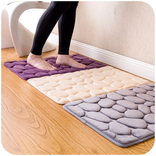 Coral Fleece Bathroom Memory Foam Rug Kit Toilet Pattern Bath Non slip Mats Floor Carpet Set