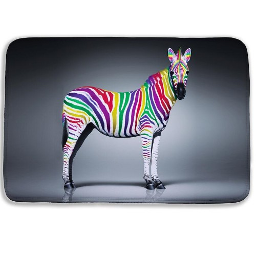 Fashion Cartoon Animal 3D bath mat Zebra Door Mat