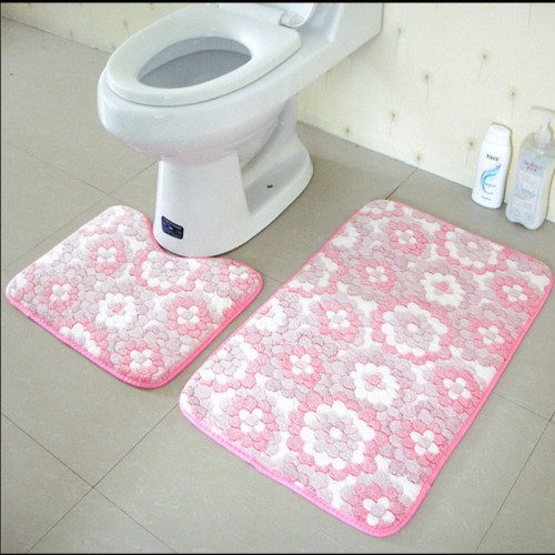 Floor Bath Mats Washable Bathroom Toilet Rugs