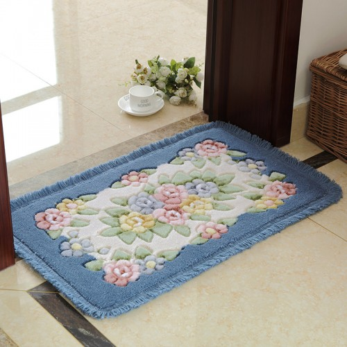 Flower Printing Classic Bathroom Carpet Mat Rug 1 PCS Anti Slip Floor Bath Mat Carpet Bath