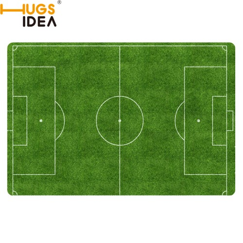 HUGSIDEA Custom Football Carpet Slip resistant Rugs Bedroom Floor Mat Doormat Green Court Desgin Funny Rugs
