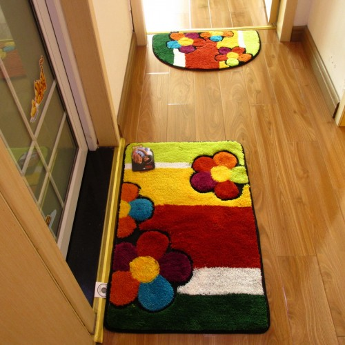 Handmade Doormat for Floor Bathroom Cheap Non slip Bath Mats Home Decor Bathroom Mat Absorbent Slip