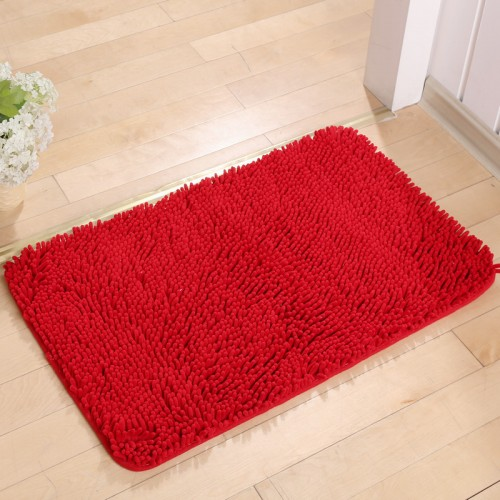 Microfiber Chenille Bath Mat Bathroom Door Mat