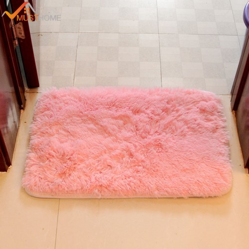 Modern Bathroom Bath Mat Anti Slip Rectangle Shaggy Bath Mat