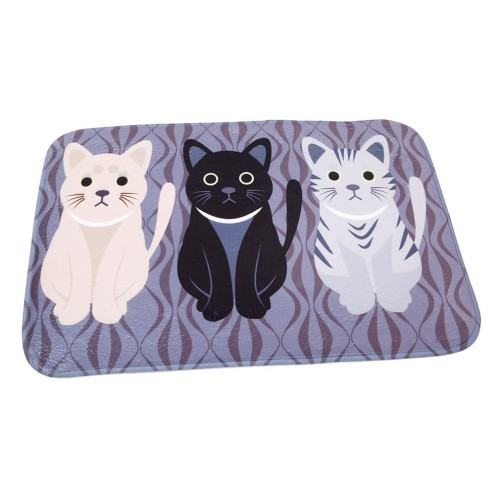 Novelty Cat Cartoon Animal Pattern Mat Bathroom Carpet Living Room Bedroom Rug Floor Table Mats Non