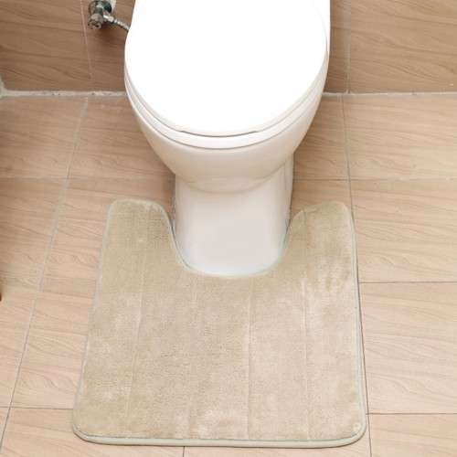 U Shaped Bath Mats Soft Pats Anti Slip Bathroom Carpet